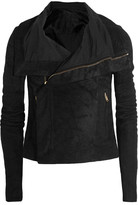 Rick Owens Blister Brushed-leather Biker Jacket - Black