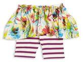 Junior Gaultier Baby's Gipsy 3D Floral Skirt Leggings