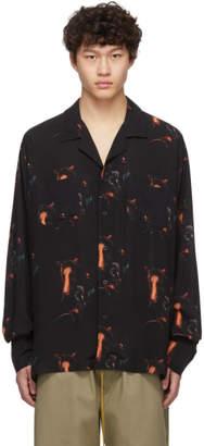 Rhude Black Printed Button-Up Shirt