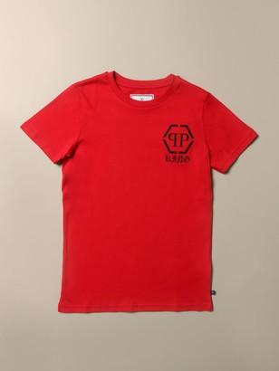 Philipp Plein Cotton T-shirt With Monogram