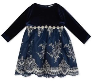 Rare Editions Baby Girls Velvet Dress