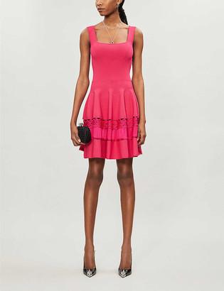 Alexander McQueen Laddered trim woven mini dress