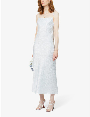 ART DEALER Rachel textured crepe midi dress