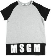 MSGM Two Tone Long Cotton Sweatshirt