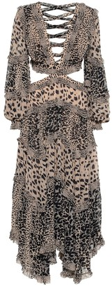 Zimmermann Allia leopard-print cut-out dress