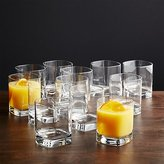 Crate & Barrel Strauss Double Old-Fashioned Glasses, Set of 12