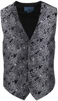 EGC2B01C-M Red Paisley Microfiber Black-Back Handsome Tuxedo Vest Management Formal Wear By Epoint