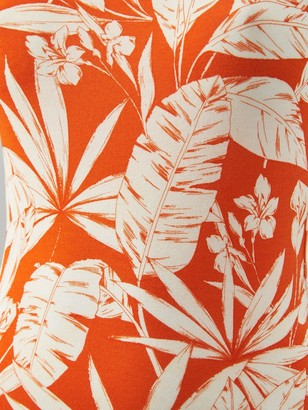 Very Tall Scoop Neck Jersey Maxi Dress - Orange Print