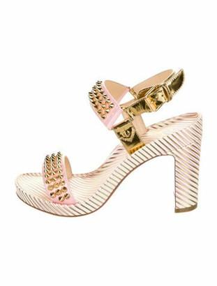 Christian Louboutin Bikool Patent Leather Sandals w/ Tags Pink