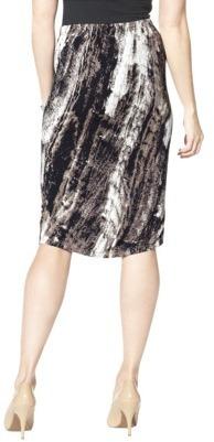 Mossimo Women's Twisted Hem Skirt - Birch Print