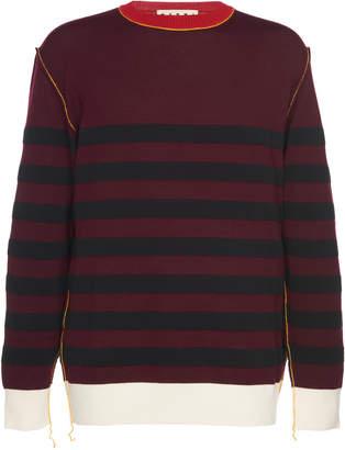 Marni Striped Cotton Sweater Size: 46