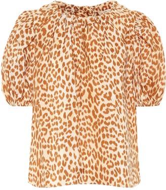 Ulla Johnson Isolda printed silk taffeta blouse
