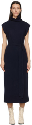 Chloé Navy Wool and Cashmere Sleeveless Dress