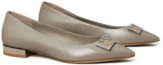 Tory Burch Gigi Embellished Pointed-Toe Flat