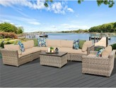 Rochford 8 Piece Sectional Seating Group with Cushions Sol 72 Outdoor Cushion Color: Wheat