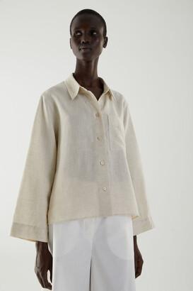 Cos Boxy Linen Shirt