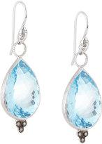 Jude Frances 18k Large Pear Topaz & Diamond Dangle & Drop Earring Charms