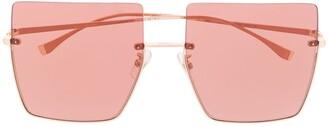 Fendi Eyewear Oversized Frame Tinted Sunglasses
