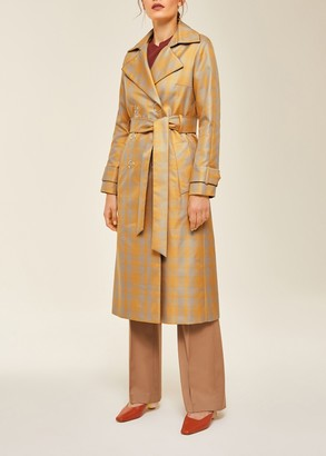 Ivy & Oak Trench Coat Checked