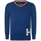 Tommy Hilfiger Tommy HilfigerBoys Blue V Neck Sweater