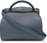 Jil Sander Blunt Open Blue Leather Small Bag