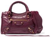 Balenciaga Classic City Mini Leather Shoulder Bag - Burgundy