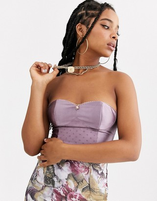 Zya ZYA satin structured bustier-Purple