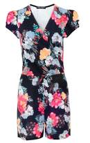 Select Fashion Fashion Womens Multi Wrap Floral Playsuit - size 10