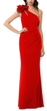 Xscape Evenings Embellished One-Shoulder Gown