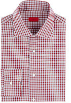 Isaia Men's Checked Cotton Dress Shirt-RED