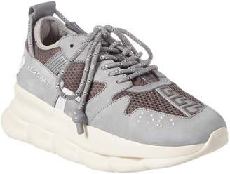 Versace Chain Reaction Suede & Mesh Sneaker
