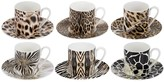 Roberto Cavalli Africa Coffee Cups & Saucers - Set of 6