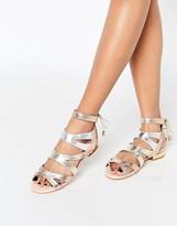 Miss KG Drita Nude Gladiator Tassel Flat Sandals
