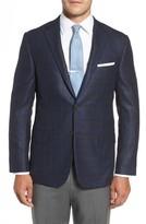 Hickey Freeman Men's Classic B Fit Plaid Wool Blend Sport Coat