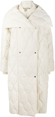 Christian Wijnants Oversize Honeycomb Quilted Coat