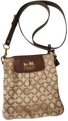 Coach Canvas Courier Crossbody Beige Cloth Handbags