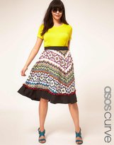 Asos Exclusive Skirt In Aztec Print With Pom Poms