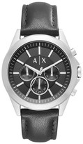 Ax Armani Exchange Chronograph Leather Strap Watch, 44Mm