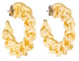 Giles & Brother Curb Chain Hoop Earrings