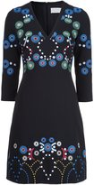 Peter Pilotto embroidered V-neck dress - women - Spandex/Elastane/Acetate/Viscose - 8