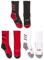 Champion Boys' 3-Pack Crew Athletic Socks Red