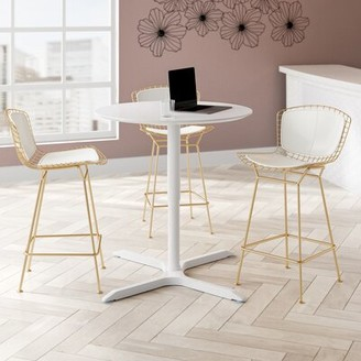 """Luxor Adjustable Height Round Cafe Table Size: 42"""" H x 36"""" W x 28"""" D"""