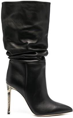 Paris Texas Black Stiletto Ankle Boots