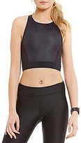Under Armour Studio HeatGear Mirror Printed Crop Racerback Top