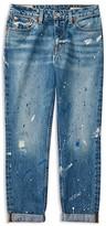 Ralph Lauren Girls' Paint Splattered Distressed Jeans - Sizes 7-16
