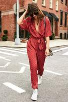 Urban Outfitters Bezel Wrap Belted Jumpsuit