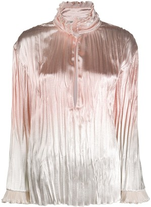 Philosophy di Lorenzo Serafini Metallic High-Neck Top