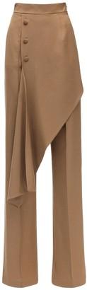 MATÉRIEL Asymmetrical Layered Cool Wool Pants