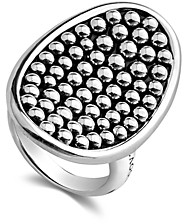 Lagos Sterling Silver Bold Caviar Vertical Ellipse Ring