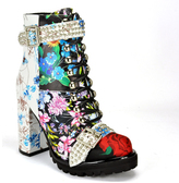 Jeffrey Campbell Lilith2 - Embroidered Leather Lug Sole Boot